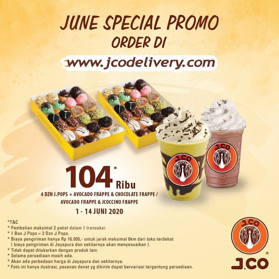 Promo Jco Paket Spesial JPOPS Rp 104.000 Periode 1 - 14 Juni 2020
