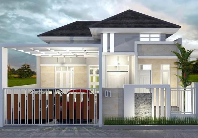 Desain Rumah Minimalis Sederhana Dengan Aksen Batu Alam