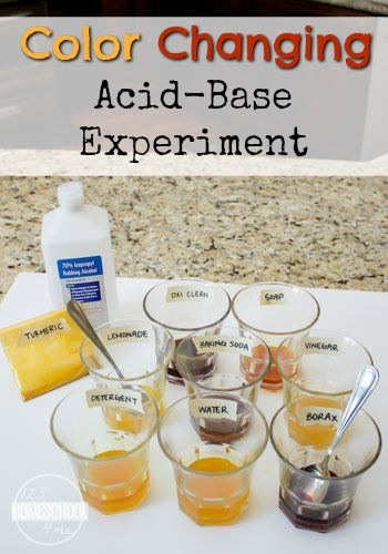 Color Changing Acid Base Science Experiment - this is such a fun chemisty kids activities for kindergarten, 1st grade, 2nd grdae, 3rd grade