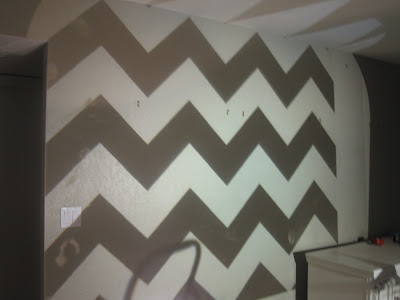 How to paint a chevron wall tutorial classy clutter for Chevron template for walls