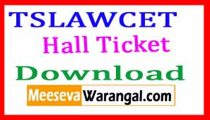 TS LAWCET  Exam Hall Ticket 2018 Download