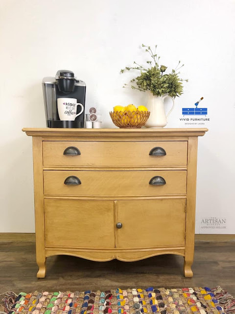 yellow hall table makeover