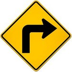 right turn ahead in spanish