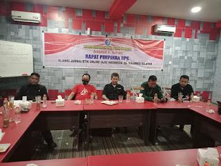 Rapat persiapan Pelantikan DPC Aliansi Jurnalistik Online Indonesia ( AJOI ) Sulsel Sukses
