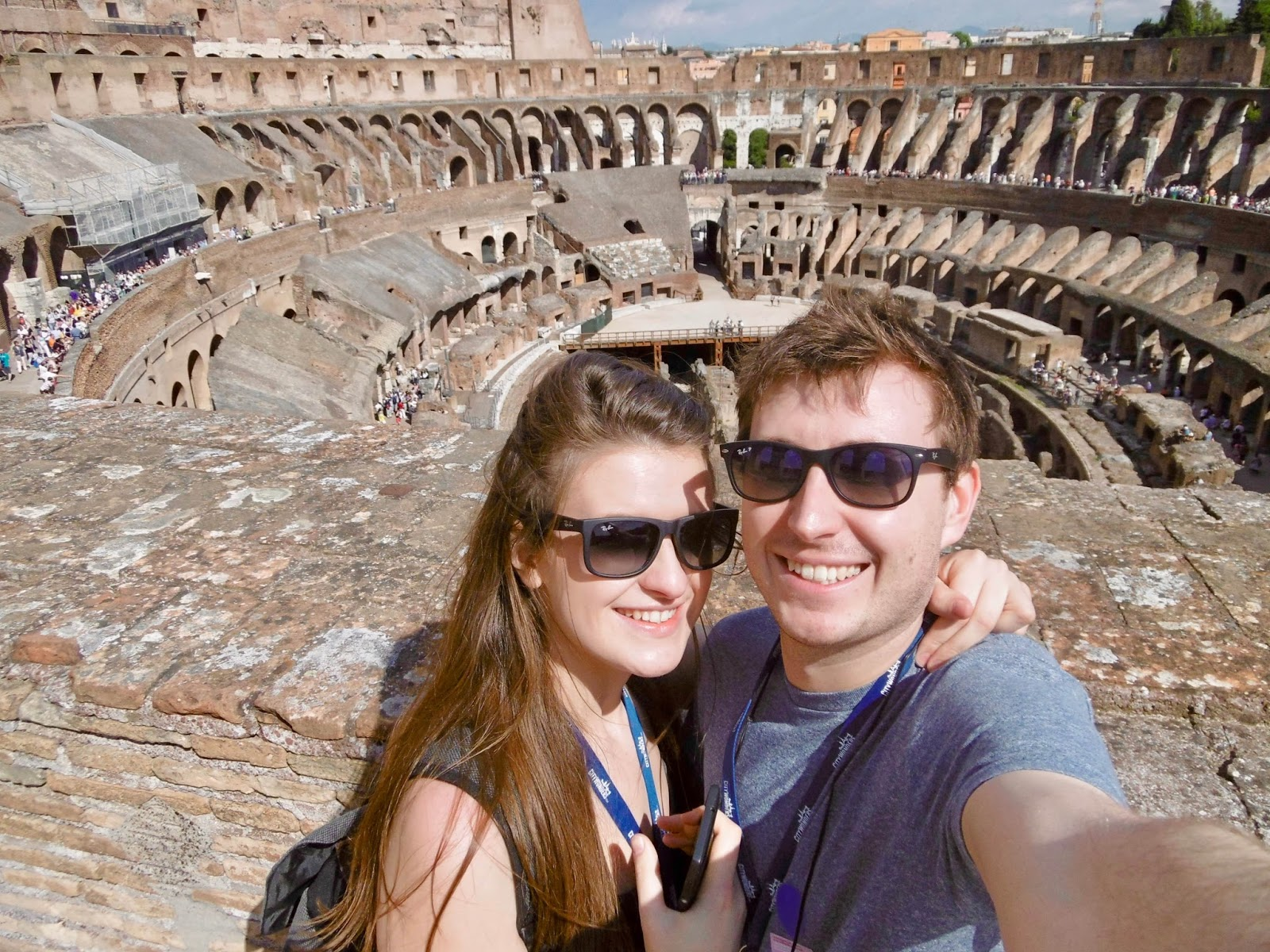 Jess and Cal Mc at the Colosseum in Rome