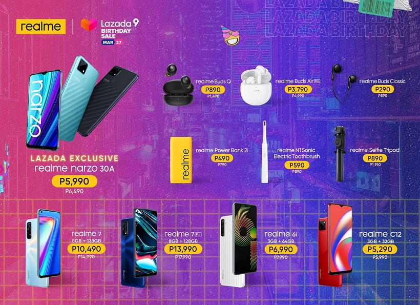 realme narzo 30A: Available at a discounted price on Lazada Birthday Sale!