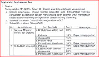 CPNS 2019 BNN