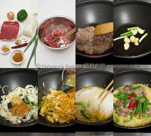 Satay Beef with Vermicelli Noodles Procedures