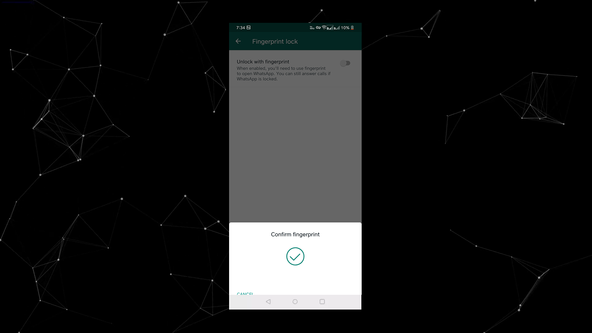 How to Enable Fingerprint Unlock for Android WhatsApp
