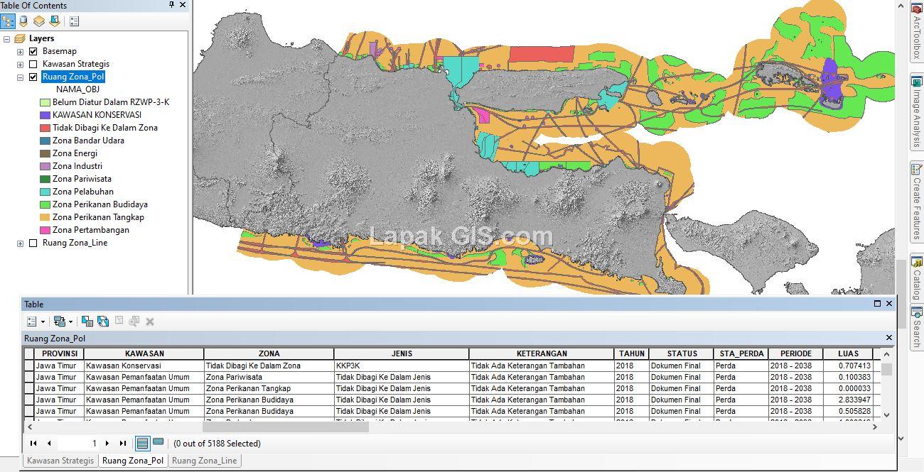 Shapefile (SHP) Peta RZWP3K Lengkap Seluruh Indonesia ...