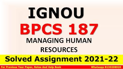 BPCS 187 Solved Assignment 2021-22