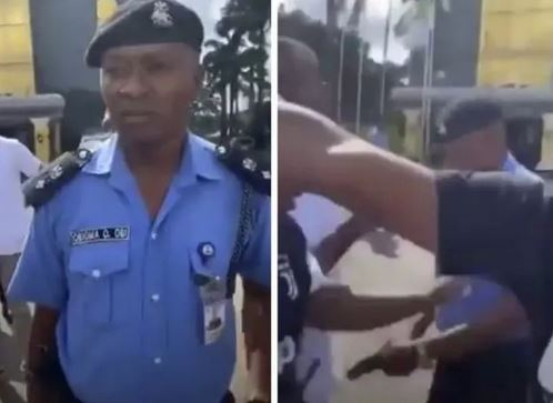 #EndSARS: Shock As DPO Brings Out Pistol To Shoot Protesters