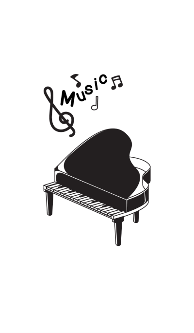Black and white music instruments.