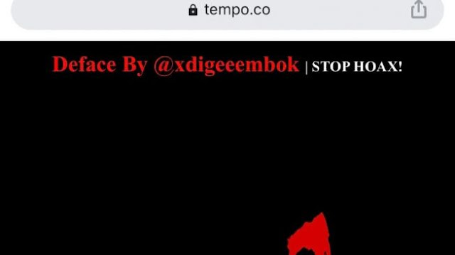 Situs Media Tempo.co Diretas, Ada Tulisan 'Stop Hoax'