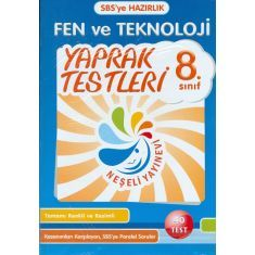 Neşeli Yayınları - 8. Sınıf Fen ve Teknoloji Yaprak Test - SBS Hazırlık - 40 Test