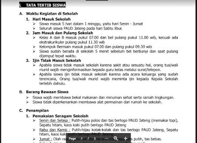 Tata Tertib Siswa PAUD/ TK/ RA/ KB/ TPA - Tata Tertib Anak PAUD/ TK/ RA/ KB/ TPA - Tata Tertib Kelas PAUD/ TK/ RA/ KB/ TPA
