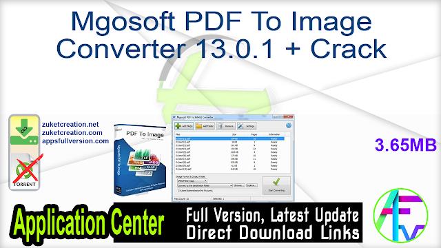 Mgosoft PDF To Image Converter 13.0.1 + Crack