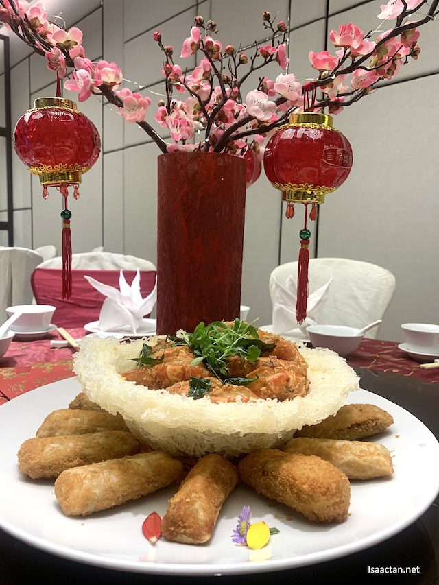 Baked Butter Tiger Prawns and Crispy Cheese Prawn Rolls
