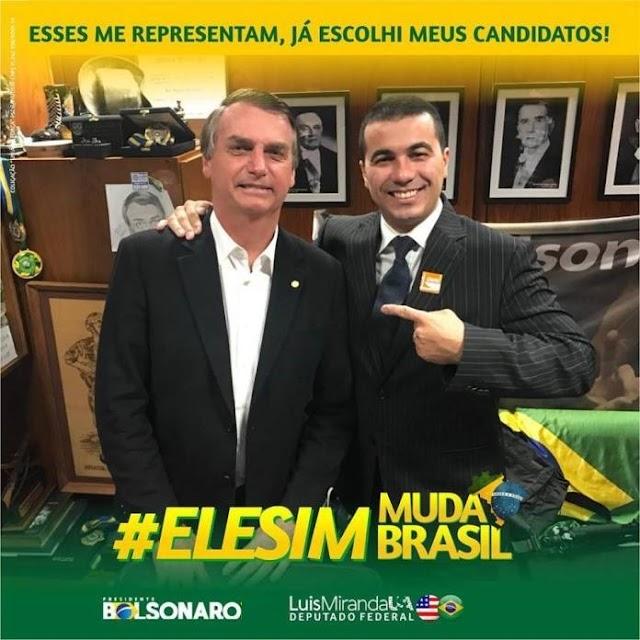 """Deputado Luís Miranda (DEM-DF) desabafa: """"Bolsonaro tem razão!!! Vão sempre perseguir quem tentar fazer o certo! """""""