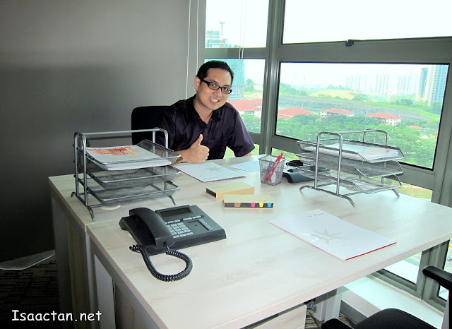 Yours truly at one of the bigger offices with a pretty view of KL city