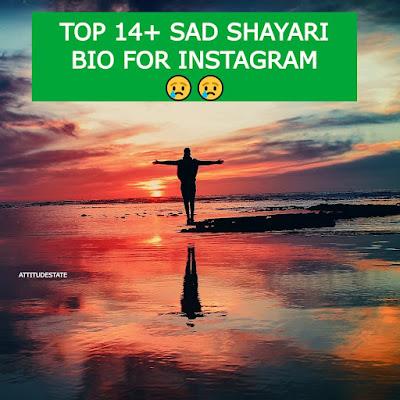 Top 14+ Sad Shayari Bio for Instagram 😢😢