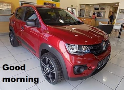 Good morning images - Renault kwid RED colours with images