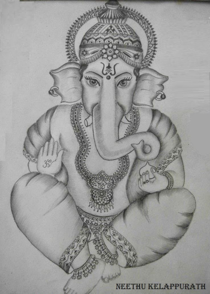 Lord ganesha pencil on paper