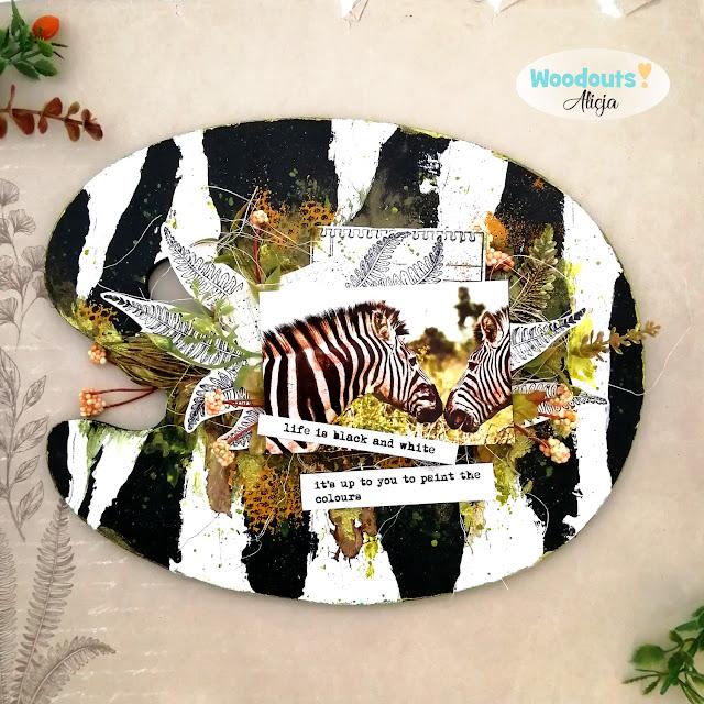 zebra scrapbooking