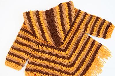 6 - Crochet Imagen Capucha para poncho de otoño a crochet por Majovel Crochet