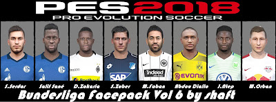 PES 2018 Bundesliga Facepack V6 by Shaft