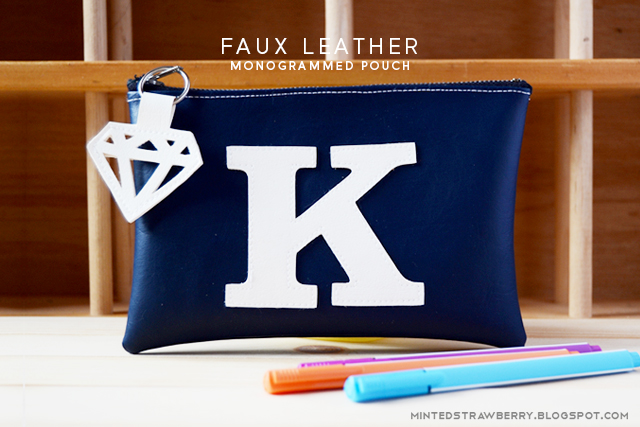 monogram pouch leather cutout silhouette cameo curio