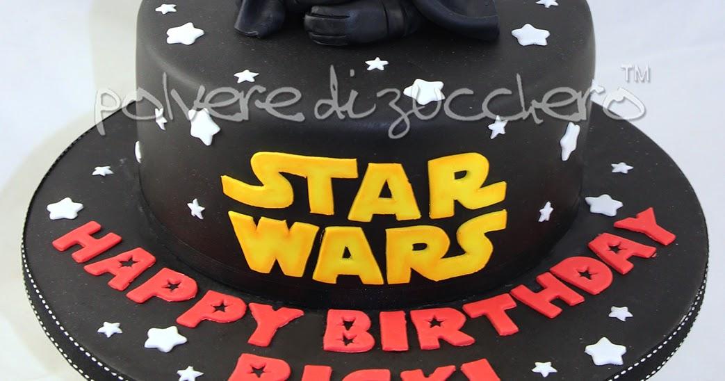 Super Torta di compleanno Star Wars con Darth Vader in pasta di zucchero  DF91