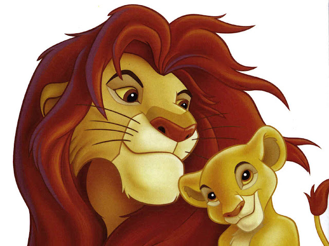 Mufasa y Simba, fondo de pantalla
