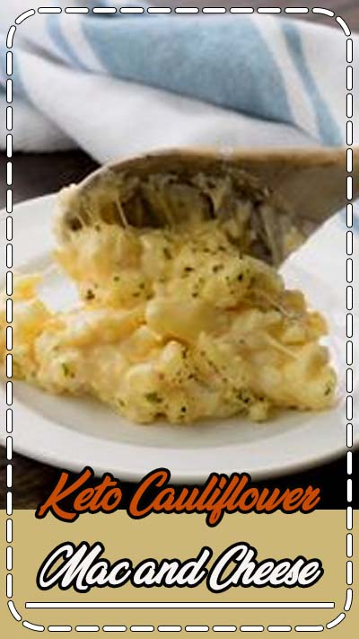 The cheesiest!! Even my kids like this low carb version of mac and cheese. #keto #lowcarb #cauliflower #recipe