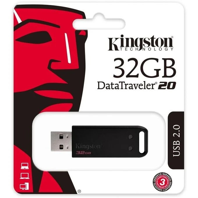 Kingston فلاشة 32 جيجا بايت USB 2.0 - أسود