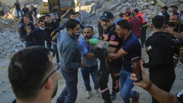 Warga Palestina Korban Gempuran Israel Bertambah Jadi 113 Orang