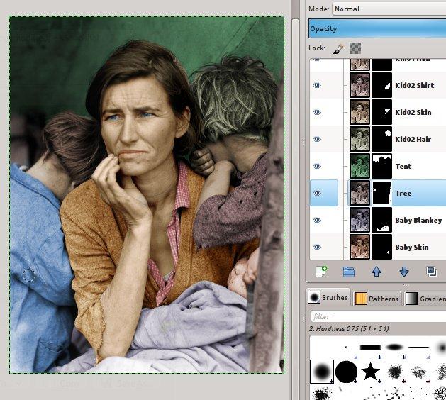 Gimp Como Colorir Fotos Preto E Branco Por Mckay