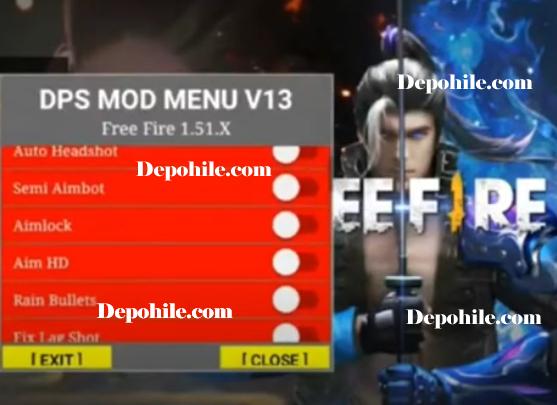Free Fire DPS Mod Menu v13 Aim, Rain Bullet Hileli Apk 2020