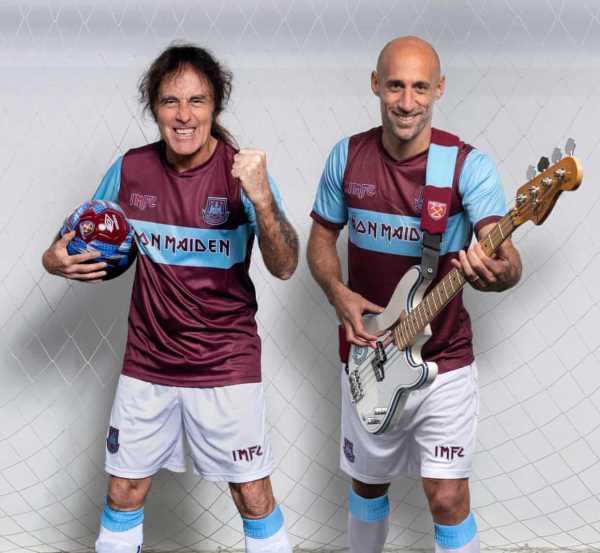 IRON MAIDEN: Συνεργάστηκαν με την West Ham για ποδοσφαιρική εμφάνιση