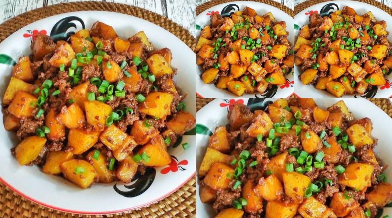 tumis kentang daging sapi cincang  susan mellyani resep masakan ikan Resepi Gulai Kambing Aceh Enak dan Mudah