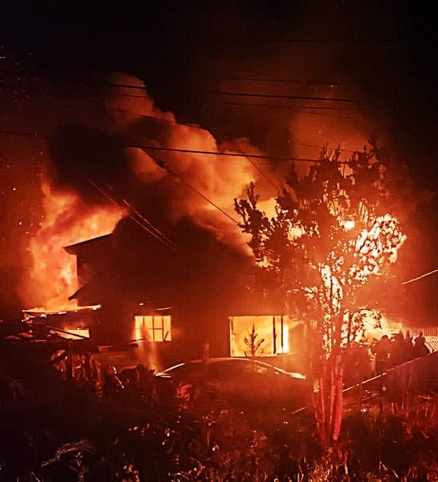 Incendio en Quellón