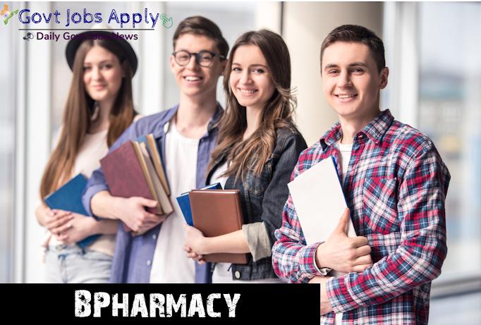 B Pharmacy  Govt Jobs