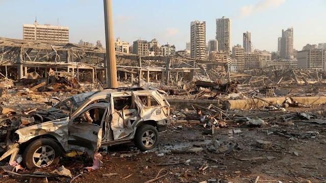 بيروت السلام تحت الركام.