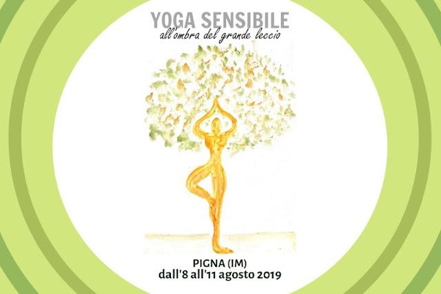 Seminario di yoga nell'entroterra di Ventimiglia