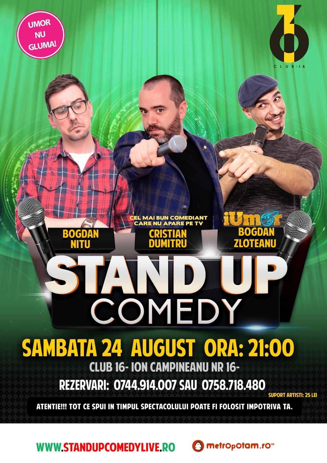 Spectacol Stand-Up Comedy azi in Bucuresti