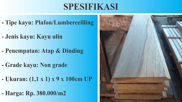 spesifikasi plafon kayu ulin