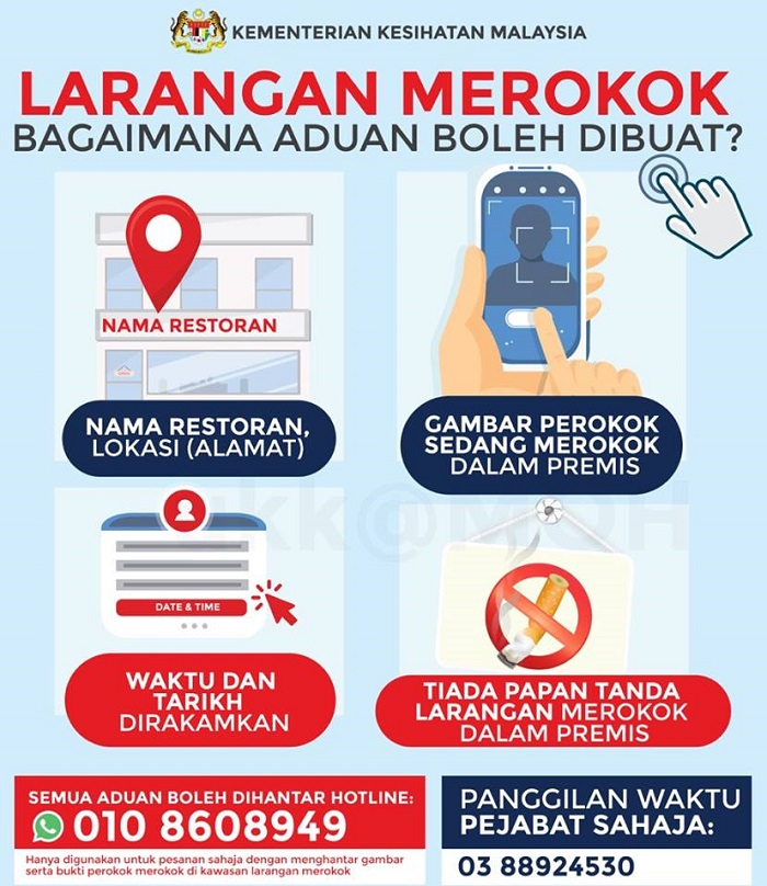 Report Errant Smokers Via WhatsApp To MOH What to include