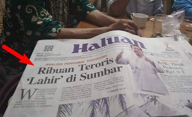 """Difitnah """"Ribuan Teroris Lahir di Sumbar"""", Warga Bertekad Suara Jokowi Nol Besar di Sumbar"""