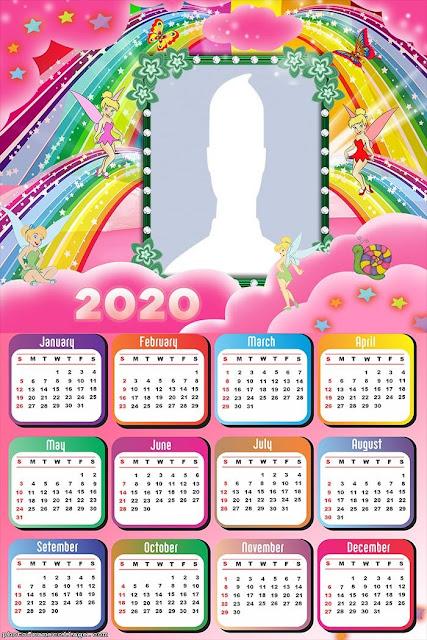 Tinkerbell: Calendario 2020 para Imprimir Gratis
