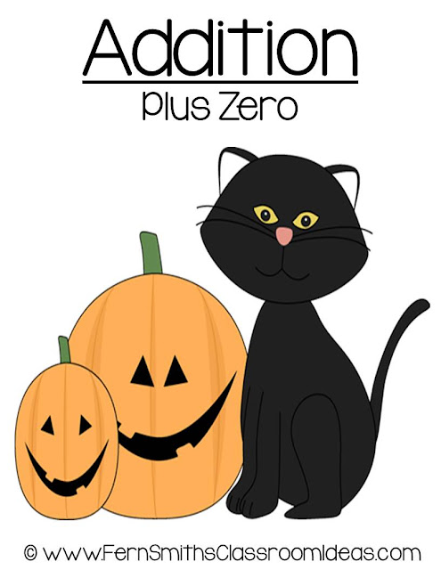 Fern Smith's Classroom Ideas Halloween - Addition Plus One Center Game at TeachersPayTeachers.